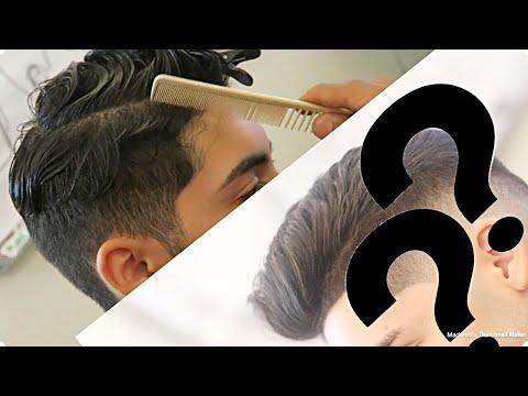 Pompadour Side Part | Correction Cut!