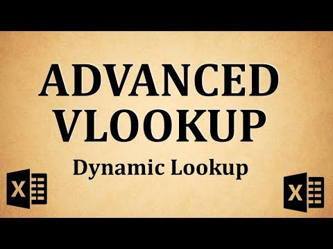VLOOKUP Advanced (Dynamic VLOOKUP) - Explained with Simple Examle (Excel Functions)
