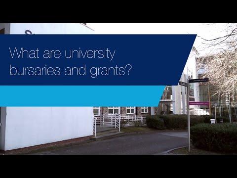 What are university bursaries and grants?