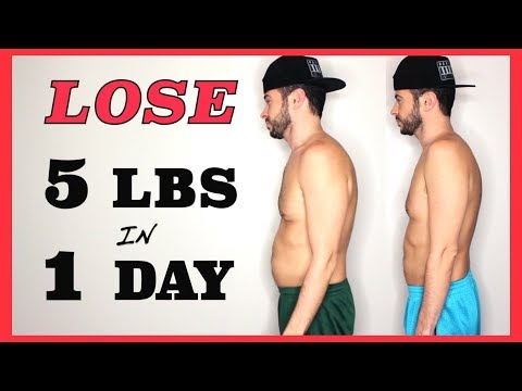 HOW I LOST 5 LBS in 1 DAY  **not clickbait**