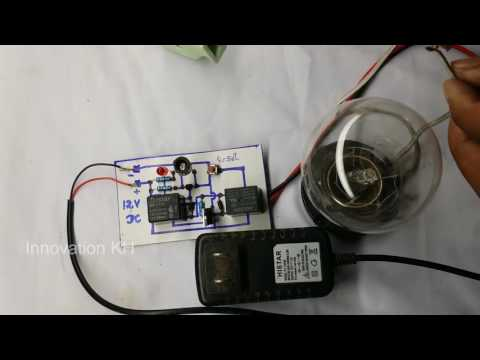 How to create easy automatic switch laser light circuit for Security System Light at home