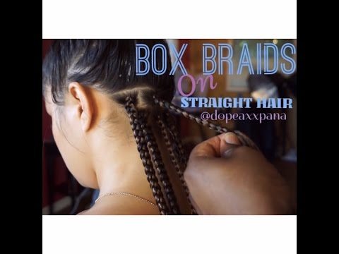 How to Do Box Braids on Straight Hair