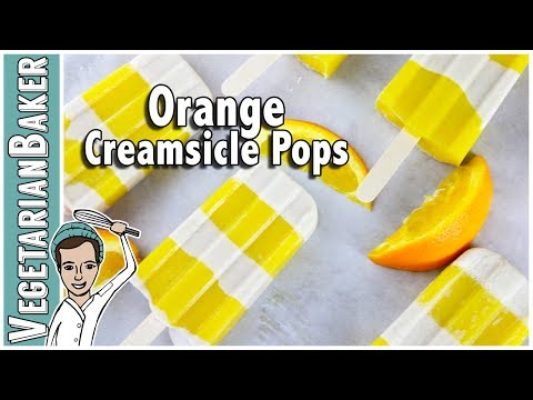 Orange Creamsicle Pops {vegan, gluten-free, & no sugar added} | Only 4 Ingredients