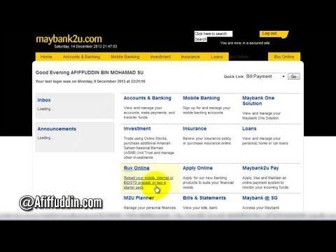 Maybank Check Balance - Cara Semak Baki Akaun Maybank Online