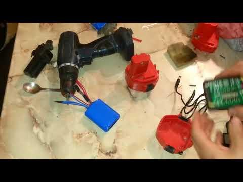Переделка NiCd аккумулятора шуруповёрта на LiOn