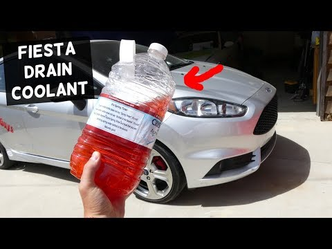 HOW TO DRAIN COOLANT ON FORD FIESTA MK7 ST