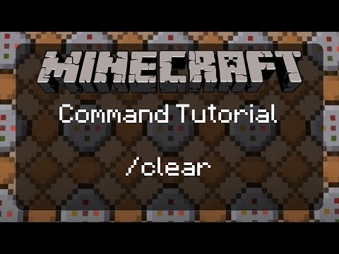Using Commands in Minecraft: /clear and Custom Item Names! | 1.11.2