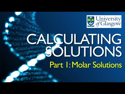 Preparing Solutions - Part 1: Calculating Molar Concentrations