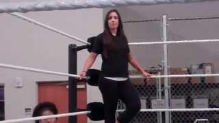 Charlotte, Sara Amato, NXT Divas at WWE Performance Center 2014