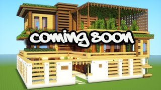minecraft house ideas modern wood