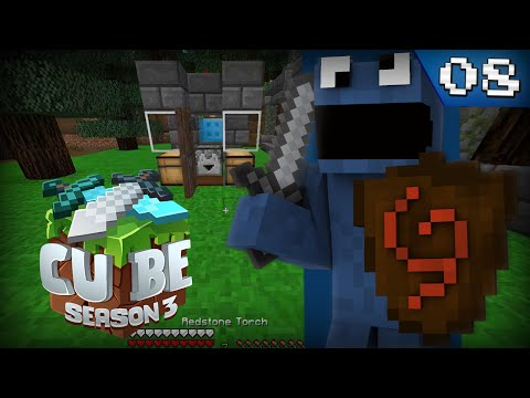 Minecraft Cube³ - Episode 8 - MY FIRST REDSTONE PROJECT