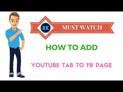 How to add youtube tab to facebook page  easy 2017