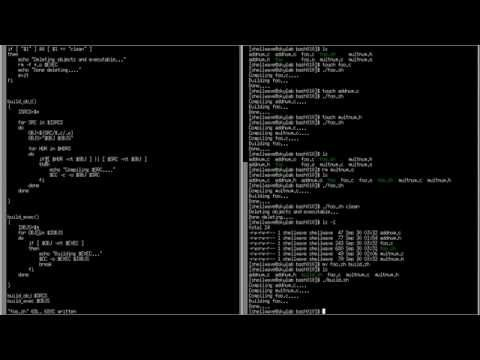 BASH Shell Scripting Tutorial in Linux #010 - Shell Script (instead of Makefile) for Build Programs