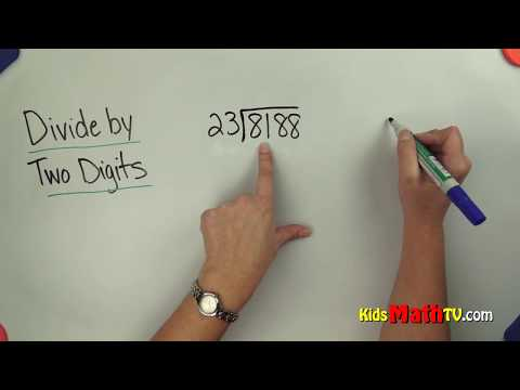 Division of numbers by two digit numbers math video tutorial