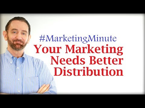"""Marketing Minute 063: """"Why Distribution Is Critical to Marketing"""" (Marketing Channel Strategy)"""