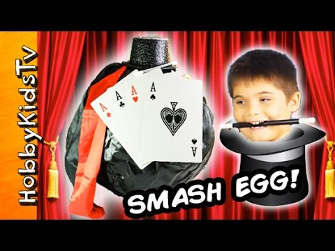Giant Trick Illusion Surprise Smash Egg! Idea by HobbyKidsTV