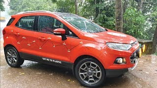 Ecosport ready for the trip, Washing, Preparations & Sticker works, INB Trip by Tech Travel Eat