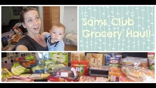Went shopping with 4 kids...Sams Club Grocery Haul!