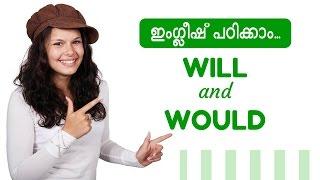 English Malayalam WILL and WOULD
