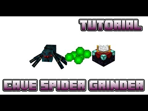 Cave Spider XP Grinder Tutorial - High Capacity - Item Collection - Compact