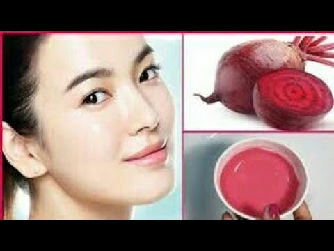 HOW TO GET FAIR PINKISH GLOWING SKIN-SKIN WHITENING BEETROOT FACE MASK|GET FAIR SKIN NATURALLY