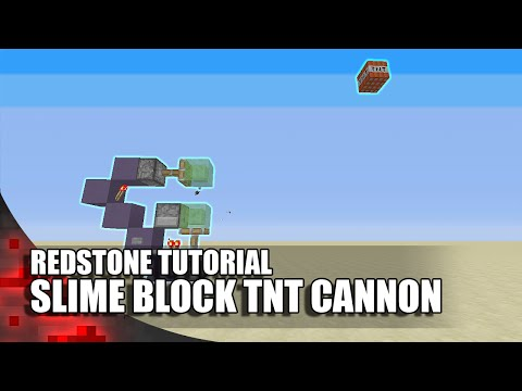 Minecraft: Simple Slime Block TNT Cannon! (Expandable!)