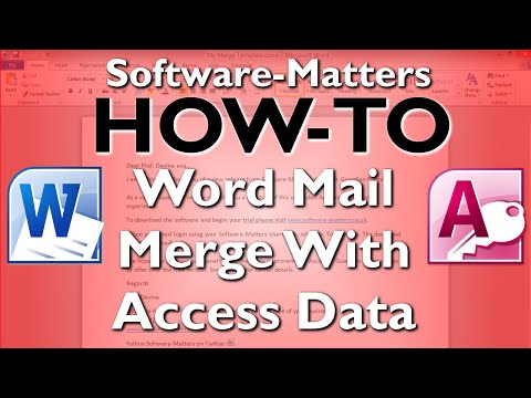How to do a Mail Merge in Word using contacts from Microsoft Access (E-Shot)