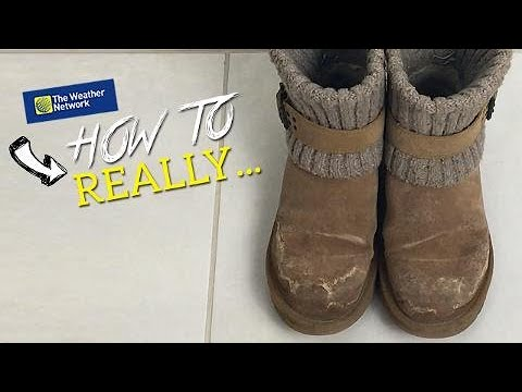 How to really clean salt stains off boots, mats and clothes (simple method)