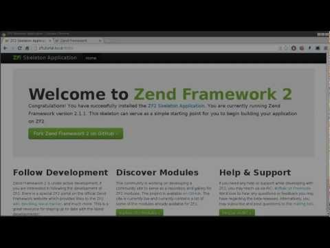 Zend Framework 2.1 tutorial 2: Modules Introduction