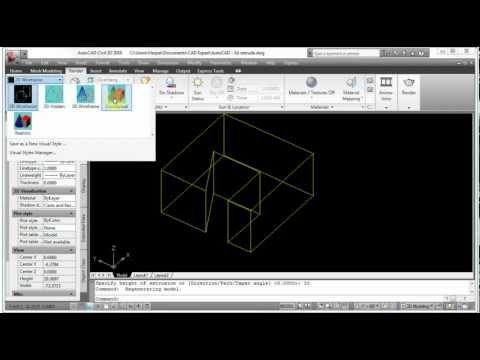 AutoCAD - Extruding a 2D Object into a 3D Solid