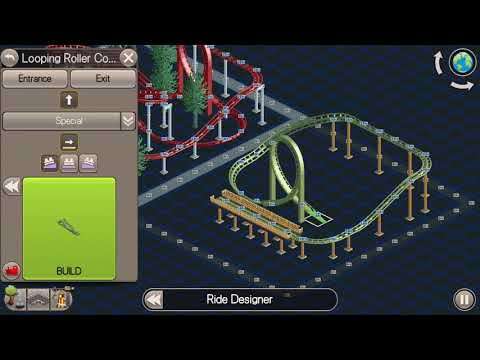 RCT Classic - 12x12 Challenge With A Looping Roller Coaster