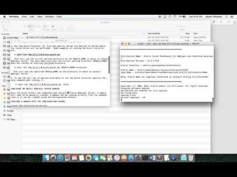 Installing Weblogic Server on Mac