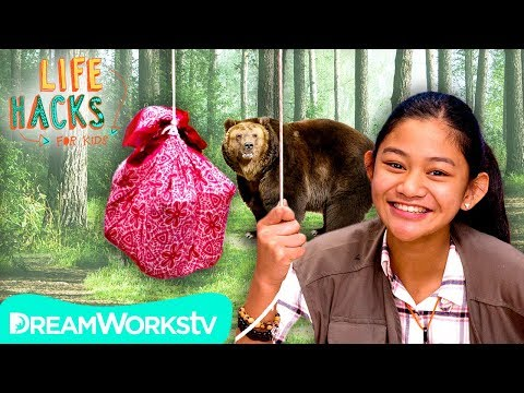 Bear + Bug Proof Camping Hacks | LIFE HACKS FOR KIDS