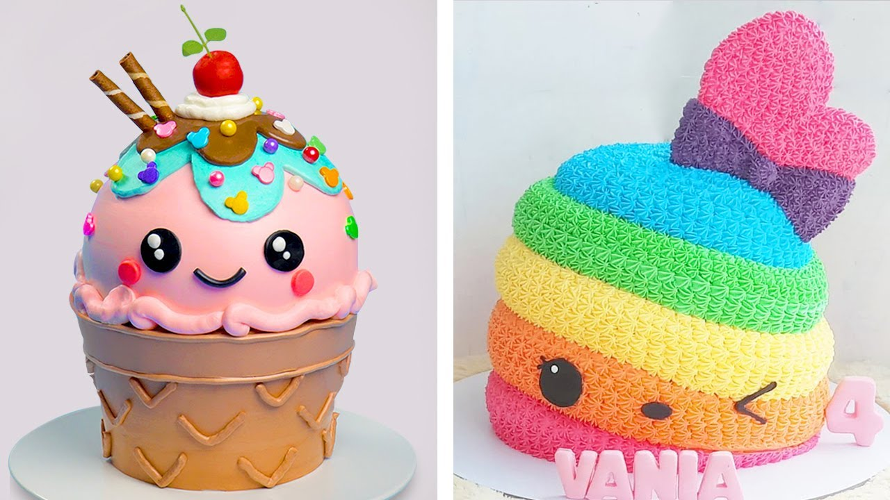 Ice Cream Cake   10+ Amazing Creative Cake Decorating Ideas   Delicious Cake Hacks Recipes