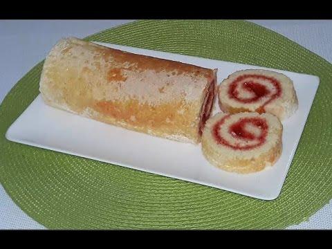 Jam Roll | Sponge Cake Easy Homemade Recipe [জ্যাম রোল]