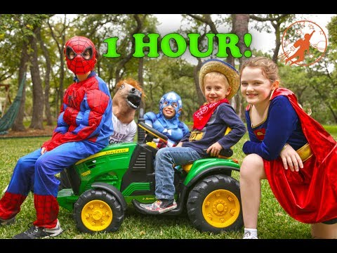 Little Superheroes Compilation Video - 1 Hour with Captain America, Supergirl, The Hulk & Batman