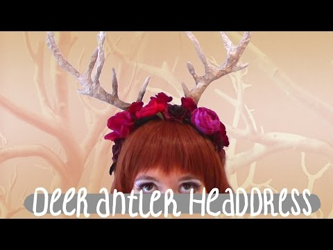 Deer Antler Headdress Tutorial: Cheap and Easy Halloween Costume