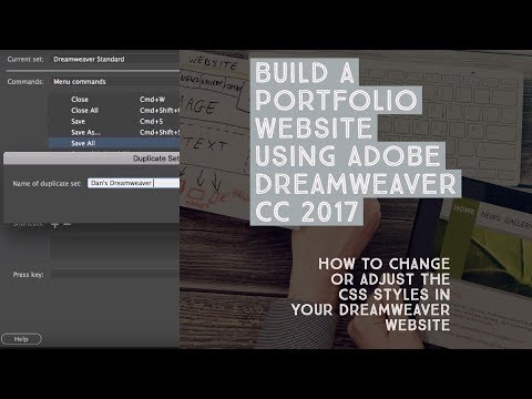 How to change or adjust the CSS styles in your Dreamweaver website - Dreamweaver Templates [9/38]