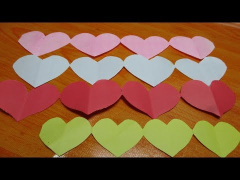 How to make quick and easy paper heart design|DIY Crafts-Paper Heart Design  Room decoration Ideas