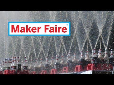 EepyBird LIVE at MakerFaire [Coke Fountain]