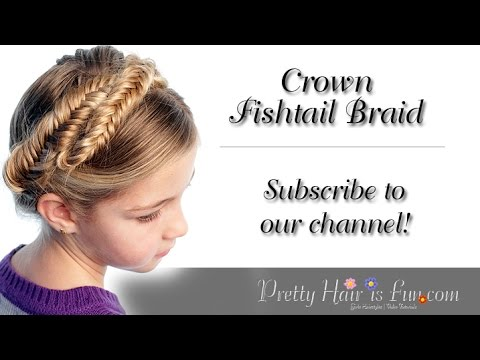 How To Do a Crown Fishtail Braid {Milkmaid Braids} | Pretty Hair is Fun