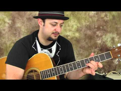 Acoustic blues lesson - Easy Songs 1 (Guitar Lesson)