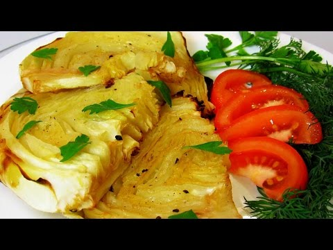 How To Make Roasted Cabbage Slices - Simple & Quick Homemade Roasted Cabbage Steaks Recipe