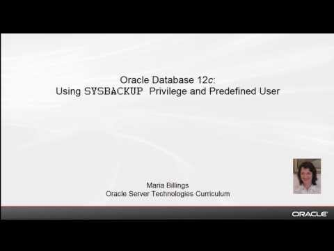 Oracle Database 12c: Using SYSBACKUP Privilege and Predefined User
