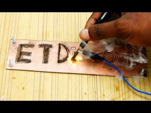 PCB on fire burning alphabets (Et Discover new intro)