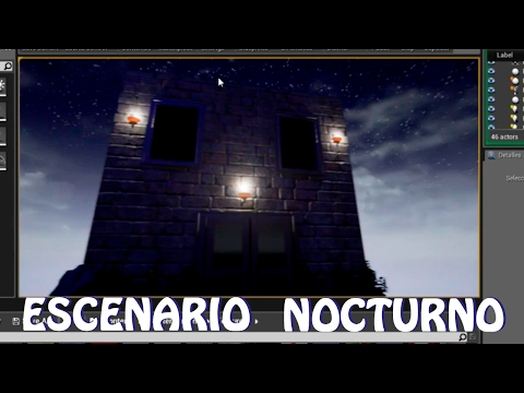 Unreal Engine 4: Tutorial escenario nocturno (modo noche) y casa con texturas (español)