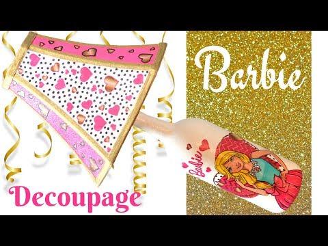 DIY Barbie Wine Bottle Lamp Decor | Decoupage
