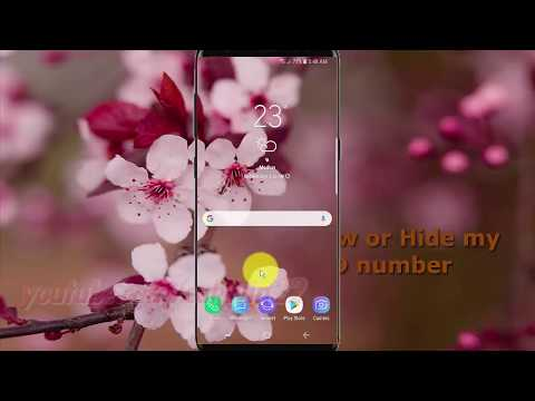 Samsung Galaxy S9 : How to Show or Hide my caller ID number (Android Oreo)