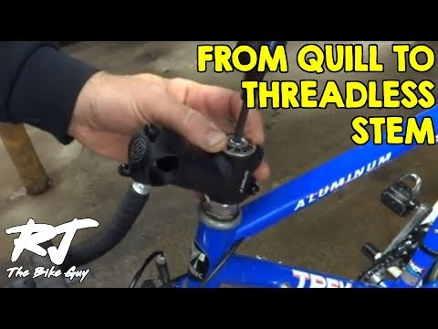 How To Convert Quill Stem To Threadless Stem With Adapter On Vintage Bike
