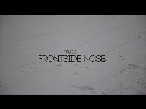 Frontside nose snowboard